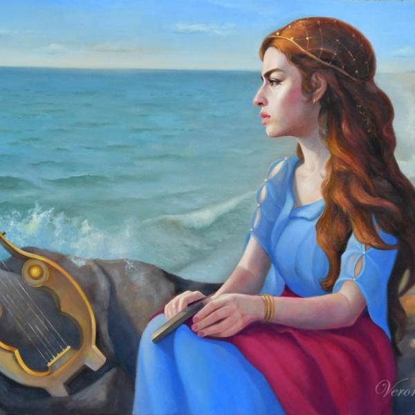 Sappho, 24x36 inches, oil on canvas