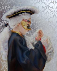 Venetian boy oil painting