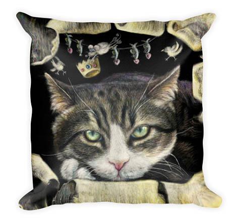 unique gift ideas, realistic cat custom pillow