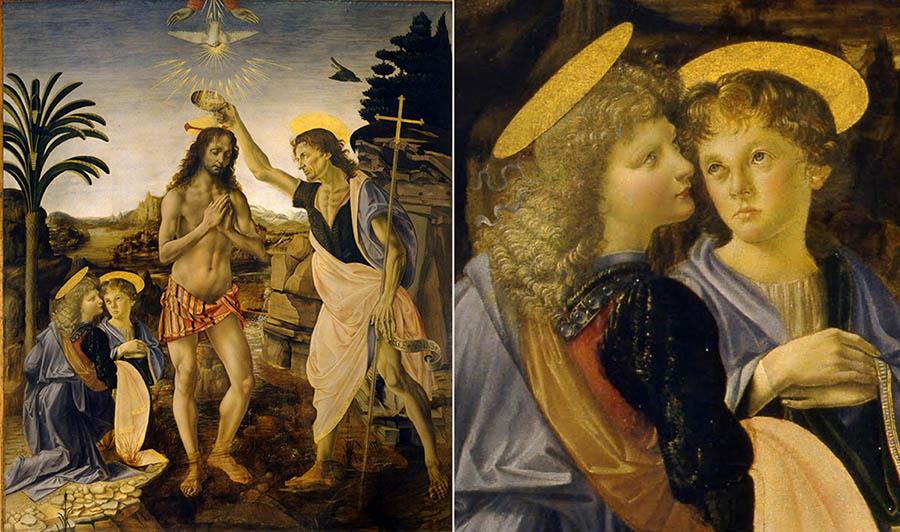 Verrocchio,_Leonardo_da_Vinci_-_Battesimo_di_Cristo sm