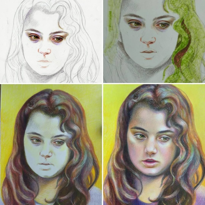 how to draw pencil portraits step by step
