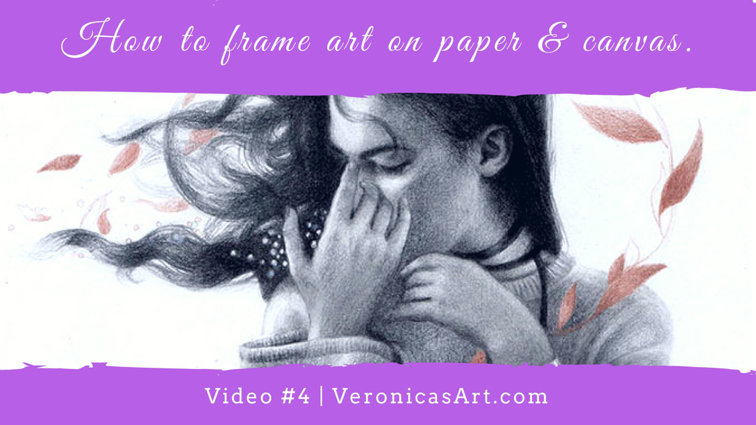 How To Frame Art On Paper And On Canvas Veronica Winters