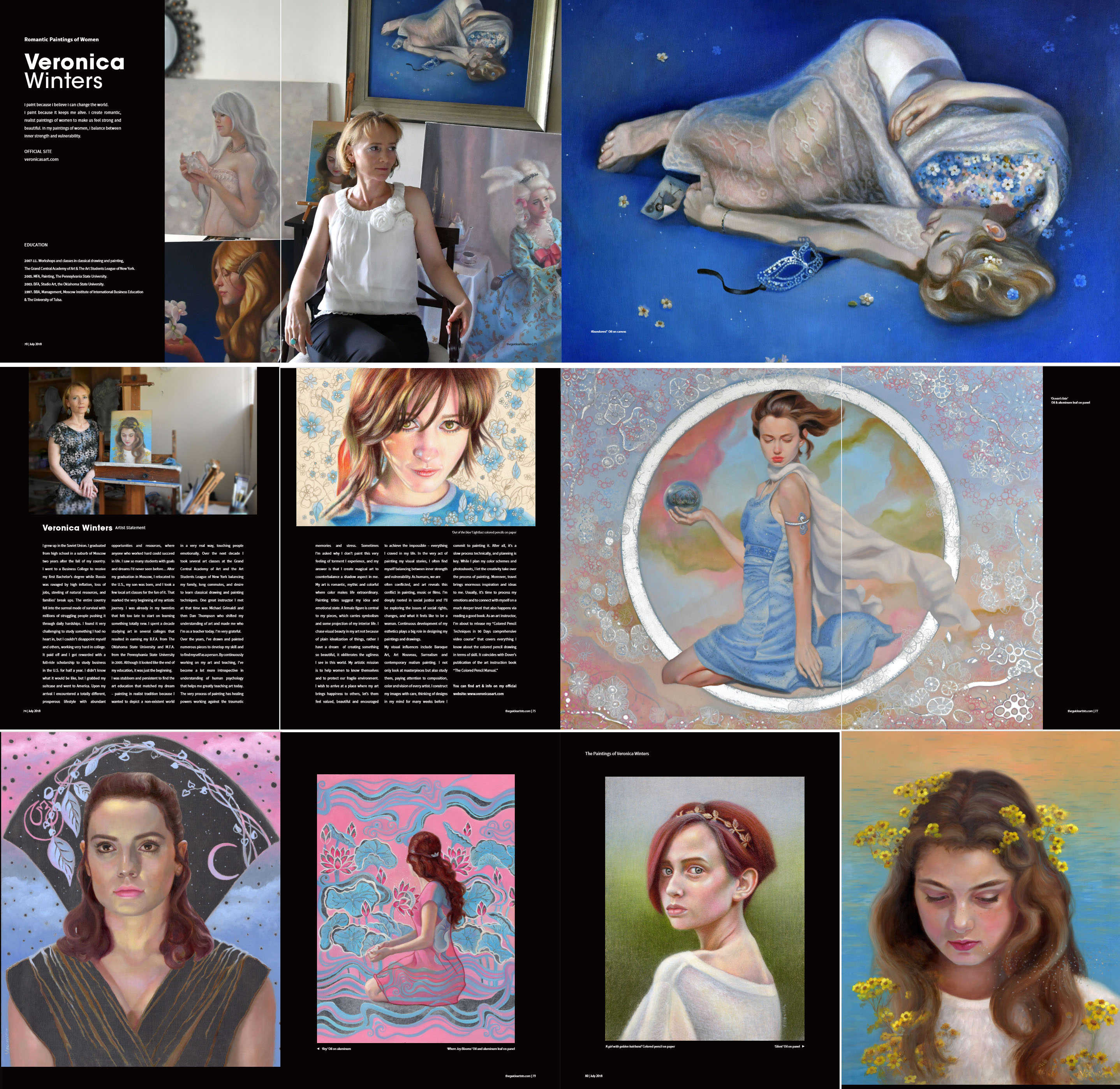 About the artist – Veronica Winters Romantic Paintings of Women